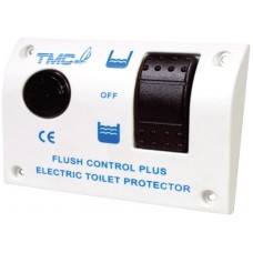TMC Electric Toilet Flush Control - Suits 12V Toilets - One Touch Panel with Half and Full Flush Options - Includes 40A Relay (139060)
