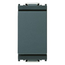 Vimar Idea - One Way Switch - 1 Pole 10 Amp 250 Volt - OFF/ON - Grey - 1 Module - Suits Rondo and Classica Cover Plates (16000)