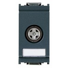 Vimar Idea - Coaxial TV-RD-SAT Socket Outlet - Grey - 1 Module - Suits Rondo and Classica Cover Plates (16306.01)