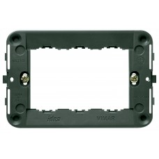 Vimar Idea - Mounting Frame - 3 Module - Grey - Suits Rondo and Classica Cover Plates (16713)