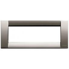 Vimar Idea -  Cover Plate Classica - Black Chrome - 6 Module - Horizontal (16736.31)