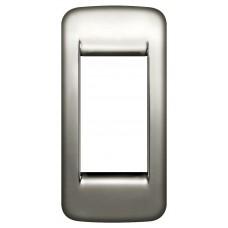 Vimar Idea -  Cover Plate Rondo - Black Chrome - 1 Module - Vertical - Suits Single Switch (16783.31)