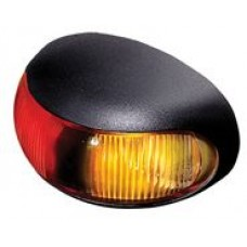 Hella DuraLED Side Marker - Red-Amber Illuminated - 8-28VDC (2053)