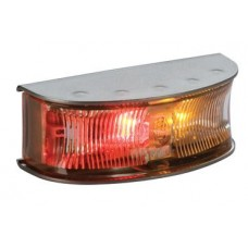 Hella DuraLED HD Side Marker - Red-Amber Illuminated - Satin Stainless Steel Housing - 8-28VDC (2058)