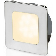 Hella EuroLED 95 Gen 2 LED Downlight - Warm White Light with Square 316 Stainless Rim and Spring Clips (2JA 958 340-521)