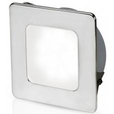 Hella EuroLED 95 Gen 2 LED Downlight - White Light with Square 316 Stainless Rim and Spring Clips (2JA 958 340-511)