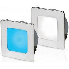 Hella EuroLED 95 Gen 2 LED Downlight - Blue/White Light with Square 316 Stainless Rim and Spring Clips (2JA 958 340-611)