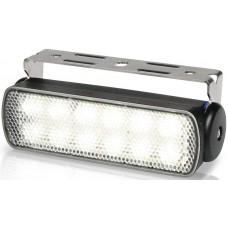 Hella Marine LED Sea Hawk Deck Flood Light - White Light - Black Housing - 12VDC - 180 Lumens (2LT980670361)