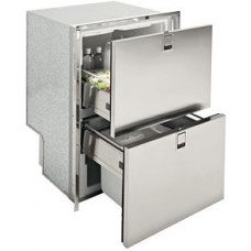 Isotherm DR160 Inox Combo Stainless Steel Two Drawer (Fridge, Freezer and Icemaker) - 155 Litre - 240 Volt AC Only (3160BM8C)