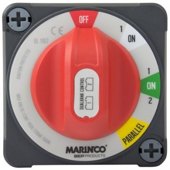 BEP Pro Installer 2 x 400A Dual Bank Control Switch (Off/1-On/1&2-On/Parallel) - EZ Mount System - 400A Cont - 600A Int - 1500A Crank - 114089 (SUR 772-DBC-EZ)