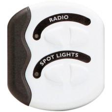 BEP Marinco Contour Switch Panel - White - Gen2 - 2 Switch - No Fuses (113757)