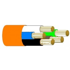 Tricab Marine 5 Core 6mm Tinned ORANGE Flexible Rubber Cable (Brown, Blue, Earth) - Suits 240V AC Shorepower Leads - Sold per mtr or 100m Spool (TRI 5C6OR)