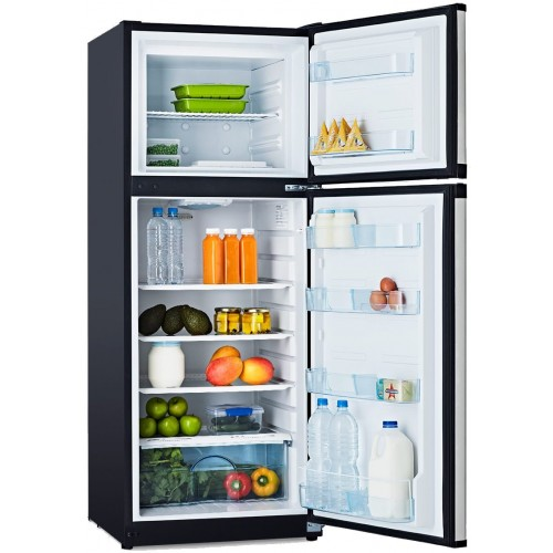 Arcticold Dc190l Ss Fridge Freezer 2 Door 12 Or 24