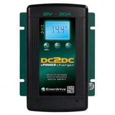 Enerdrive DC 2 DC ePOWER 30A DC to DC Battery Charger - Two DC Inputs (e.g. Engine Charging and Solar) 10.5-32VDC Input - 30A 12V Output (EN3DC30)