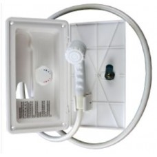 Exterior Shower Box with Hot and Cold Mixer Taps - Suits Duoetto or Similar Hot water System (Exterior Shower Box)
