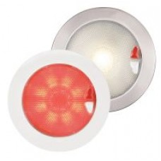 ** ONE ONLY AT SPECIAL PRICE Ex Showroom Display ** Hella EuroLED 150 Series Touch Red and White Light with Stainless Bezel (2JA980630011)