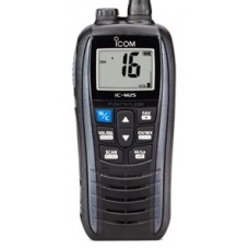 ICOM IC-M25 EURO Marine Hand Held VHF Radio - 5W Float'n Flash - Large LCD Screen - 11 Hrs Battery Life with USB Charging (IC-M25 EURO)