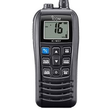 ICOM IC-M37E Marine Hand Held VHF Radio - 5W Float'n Flash - Large Keys and Easy Grip - 12 Hrs Battery Life - Rechargeable Li-Ion Battery (IC-M37E)