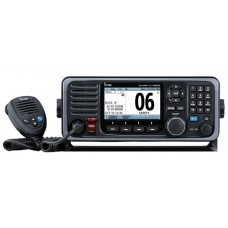 ICOM IC-M605EURO Marine VHF Radio with AIS Receiver - BLACK - PREMIUM Unit with TFT LCD Screen - DSC - Active Noise Cancelling - NMEA2000/0183 - Built-In GPS - 2 Way Hailer & Horn (IC-M605EURO)