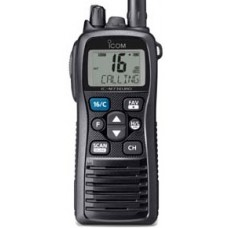 ICOM IC-M73EURO Marine Hand Held VHF Radio - 5W - Wide Viewing LCD with Professional Features - 16 Hrs Battery Life - Rechargeable Li-Ion Battery (IC-M73EURO)