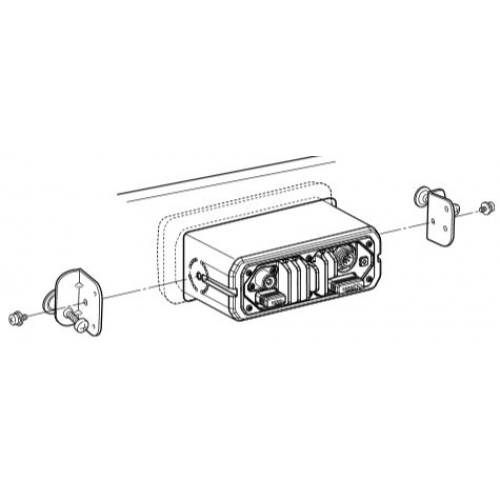 icom m132 flush mounting kit for m323  m423 and m506  mb132