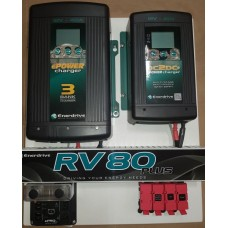 Enerdrive RV80 Battery Management System - Suits AGM/Lithium - Incl. 40A DC2DC Charger, MPPT Solar Controller, 12V 40A Battery Charger, Battery Monitor and Fuses (K-RV-80-PLUS)