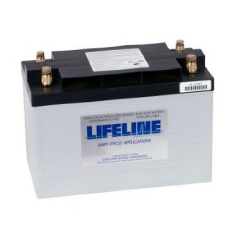 lifeline gpl 31t 12 volt 105ah 600cca marine deep. Black Bedroom Furniture Sets. Home Design Ideas