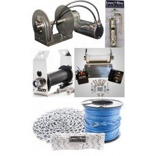 Lone Star Marine GX1, GX2, GX3 and GX4 Combo Deals - Stainless Steel Drum Anchor Winch Combo - 12 & 24 Volt Motor - Freight to Qld, Vic, NT, SA, WA, NSW, ACT
