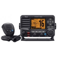 * NO LONGER AVAILABLE * ICOM IC-M506GE Marine VHF Radio with AIS Receiver - BLACK - DSC - Active Noise Cancelling - NMEA2000 - Built-In GPS and Horn (IC-M506GE)