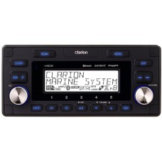 Clarion M608 Marine Stereo - Watertight Receiver with Bluetooth - 4 Zone Operation - USB and Aux Input - M608 (15077-001)