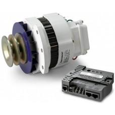 Mastervolt Alpha 12/90 MB Alternator and Regulator Combo - 12 Volt 90 Amp Alternator with Dual Belt Pulley - Multi fit mounting (SUR 48612090)