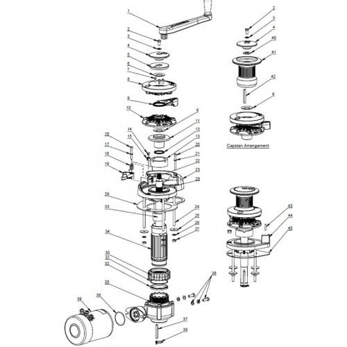 Maxwell Anchor Winch Spare Parts General