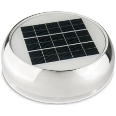"Marinco Day-Night Solar Vent 3"" Stainless Steel - Incl. ON/OFF Fan Switch and LED Light - Intake or Exhaust - 175384 (N20803S)"