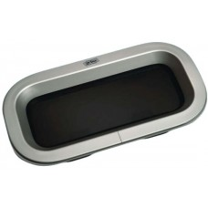 Gebo Econoline Rectangular Fixed Portlight - 304 x 155mm Cut Out - Silver Anodised Aluminium - 81.71.00.00 (RWB6092)