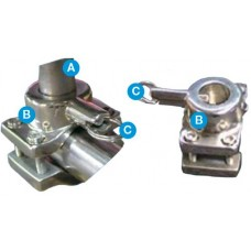 Galleymate Marine Barbecue Outboard Rail Mount - Suits GM1100 and GM1500 - Suits Rails 19-32mm (RMO)