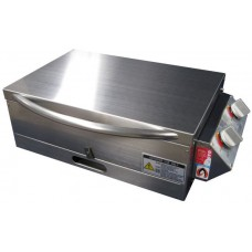 *NEW Sizzler Deluxe Gas Barbecue with Flame Failure - LOW Lid (No Window) - Stainless Steel HOTPLATE - Suits Camping and Caravans BBQ (Sizzler FF SS Lo/Lid)