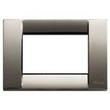 Vimar Idea - Cover Plate Classica  - Black Chrome -  3 Module (16733.31)