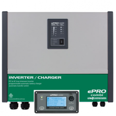 ePRO Inverter Charger Combi - 12 Volt to 240V Pure Sine Wave Inverter (1800W) with 80 Amp Battery Charger with Auto Transfer Switch and Remote Panel  (EPC 2000-12K)