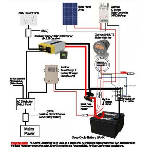 Marine Battery Monitor Wiring Diagram - Wiring Diagram For Light ...