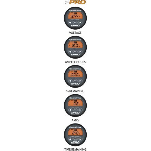 Enerdrive-Xantrex-TBS ePRO Battery Monitor - 12-24VDC - 50mm Display on
