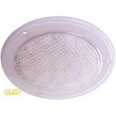 OceanLumi LED Interior/Exterior Light - 12V -  White Light (Hi/Low) - 132mm - White - Recess Mount - Non Switched (41-132-30)