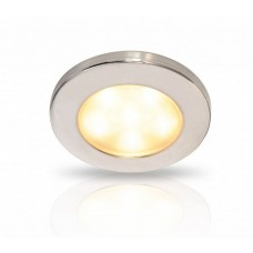 Hella EuroLED 95 Series LED Downlight - Warm White Light with Stainless Rim (2JA 980 940-111)