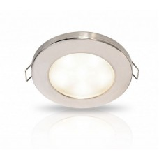 Hella EuroLED 95 Series LED Downlight with Spring Clips - White Light with Stainless Rim (2JA 980 940-211)
