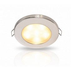 Hella EuroLED 95 Series LED Downlight with Spring Clips - Warm White Light with Stainless Rim (2JA 980 940-311)