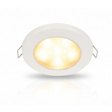 Hella EuroLED 95 Series LED Downlight with Spring Clips - Warm White Light with White Rim (2JA 980 940-301)