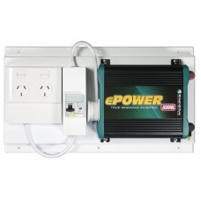 Enerdrive ePower 400 Watt Inverter 12V DC to 240V AC - With RCD and GPO (RCD-GPO-EP400W)