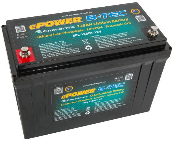 Lithium Lifepo4 Epower B Tec Battery Pack 125ah 12v