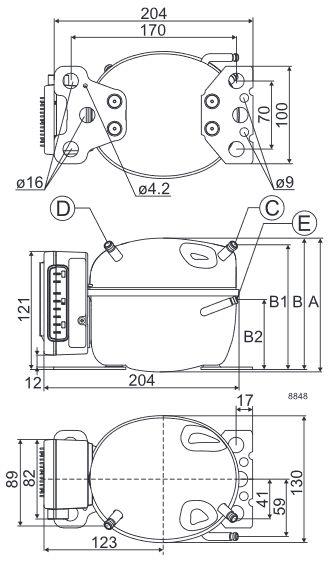 Isotherm Danfoss BD50F Air Cooled 12V-24V Compressor ONLY- Danfoss